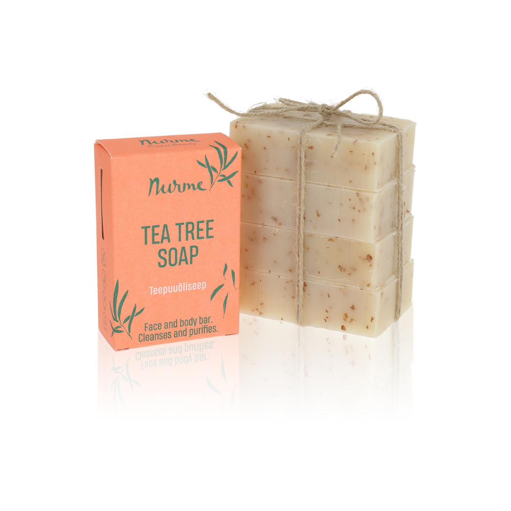 PACKAGING FREE Tea Tree Soap 400g (4x 100g)