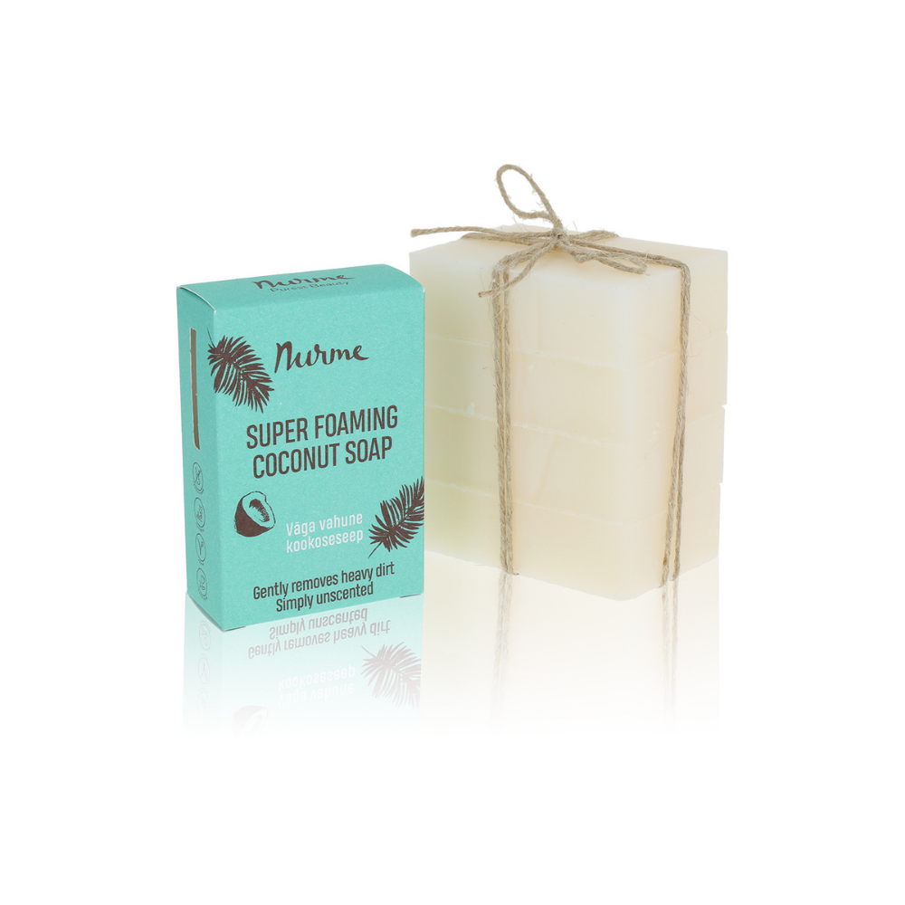 PACKAGING FREE Super Foaming Coconut Soap 400g (4x 100g)