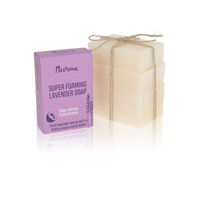 Very foamy lavender soap